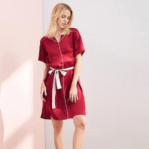 16 Momme Elegant Silk Night Dress