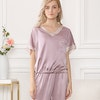 19 Momme Short Sleeve Silk Pajamas With Drawstring Color