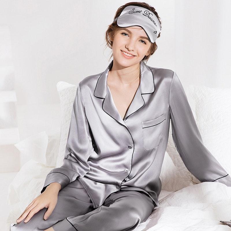 Women's Full Length Classic Silk Pajamas