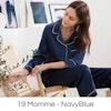 Women's Full Length Classic Silk Pajamas Color