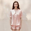 19 Momme Casual Solid Color Short Silk Pajamas Set Color