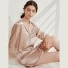 Stylish Contra Trim Silk Sleep Shirt Color