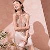 Women Sexy V-neck Silk Nightgown Color