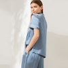 19Momme Chic Piping Short Sleeve Silk Pajamas Color