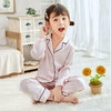 Kids 16 Momme Classic Silk Long Pajamas Color