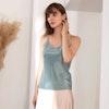 Women Classic Silk Camisole V Neck Color