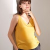 Pure Mulberry Silk Cami Top Gentle Color